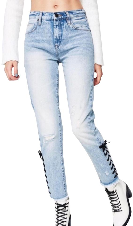 4975103febc4 BlankNYC Blue Light Wash High Rise Tapered Skinny Jeans Size 8 (M ...