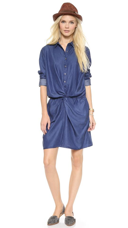 Mih Jeans Short Dress Blue On Tradesy