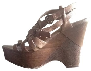 Miss Sixty Tan Platforms