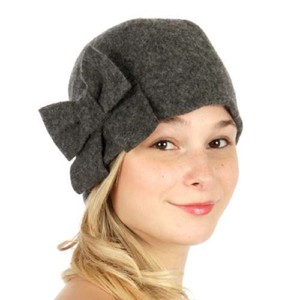 Other New Wool Big bow Bucket hat