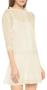 Twelfth St. by Cynthia Vincent short dress Ivory Lace Silk Drop Waist Pleated Vintage on Tradesy