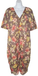 Sundance short dress Silk Chiffon Floral Gathered on Tradesy