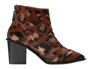 Kat Maconie Animal Print Leopard Print Ankle Brown Black Gold Boots