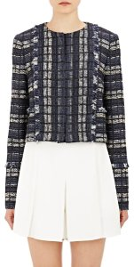 Proenza Schouler Tweed Boucle Fringe New With Tags Blue multi Blazer