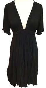 Spense short dress Black Plunging Neckline on Tradesy