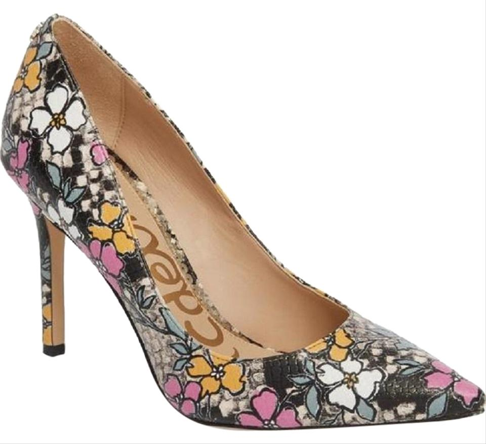 dee8a338bbe Sam Edelman Floral Snake Leather Pointed Toe Pumps Multi Color Boots Image  0 ...