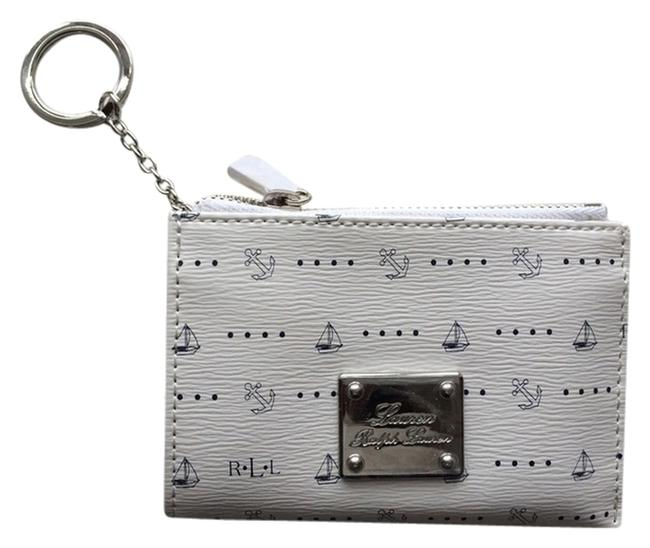 Item - White and Navy Nautical Travel Wallet