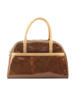Louis Vuitton Patent Leather Satchel in Bronze