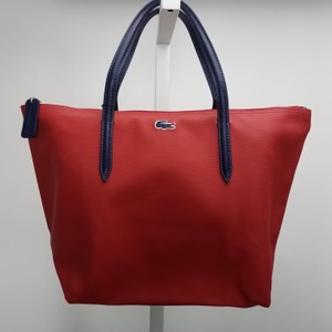 Lacoste Canvas Everyday Fashion Tote in Red