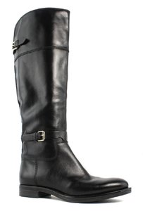 Enzo Angiolini Leather Tall Riding Black Boots