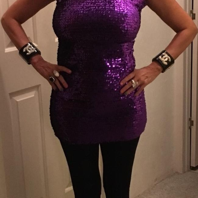 Purple Sparkling One Size Fits All Dress Dress Image 6