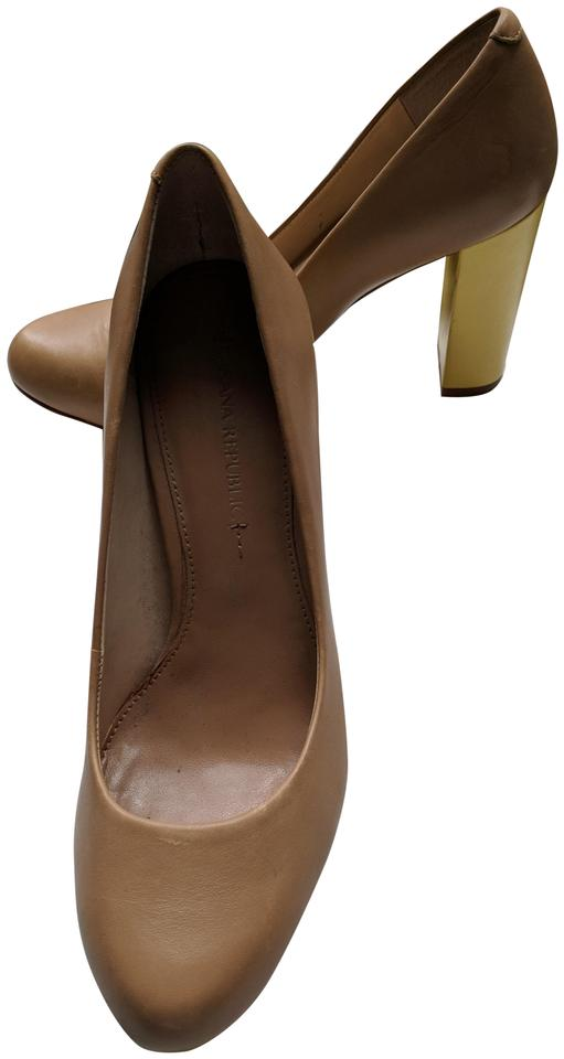 3a693cfb484 Taupe and Yellow Lizza Pumps