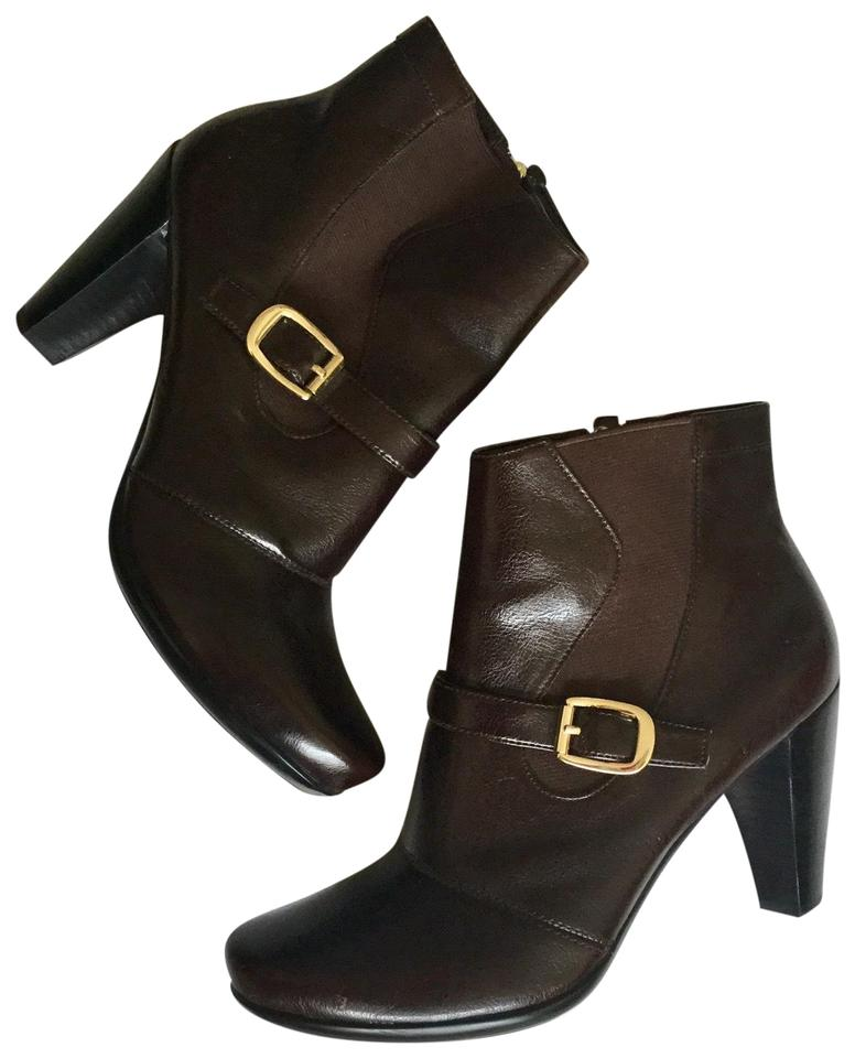 13e56125d Franco Sarto Brown Artist Collection Ankle Beech Boots Booties Size ...