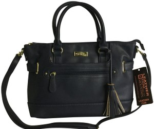 Stone Mountain Accessories Leather Nappa Leather Satchel in Navy