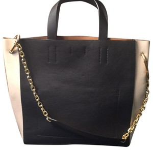 Calvin Klein Collection Tote in black and creme