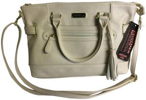 Stone Mountain Accessories Leather Nappa Leather Smooth Satchel in Bone