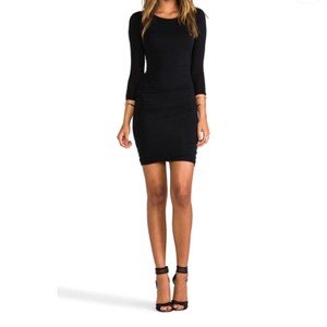 James Perse short dress black on Tradesy