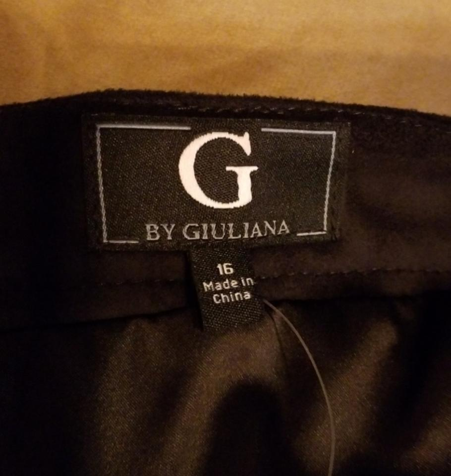 55632dc3ff G by Giuliana Comfortable Faux Suede A-line Pockets Skirt Black Image 7.  12345678