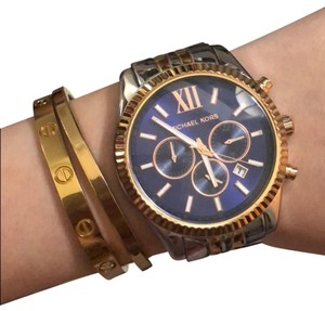 Michael Kors Michael Kors Two-Tone Unisex Watch With Large Face
