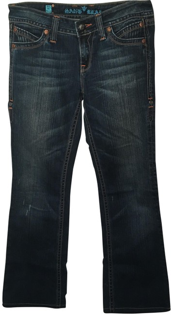 Item - Blue Dark Rinse Sang Real Boot Cut Jeans Size 30 (6, M)