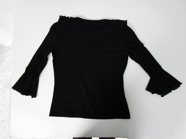 Sinequanone Ruffled Sleeve Made In France Ruffled Bell Sleeved Bell Sleeve Top black Image 2