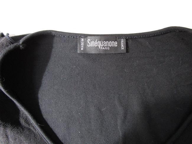 Sinequanone Ruffled Sleeve Made In France Ruffled Bell Sleeved Bell Sleeve Top black Image 3