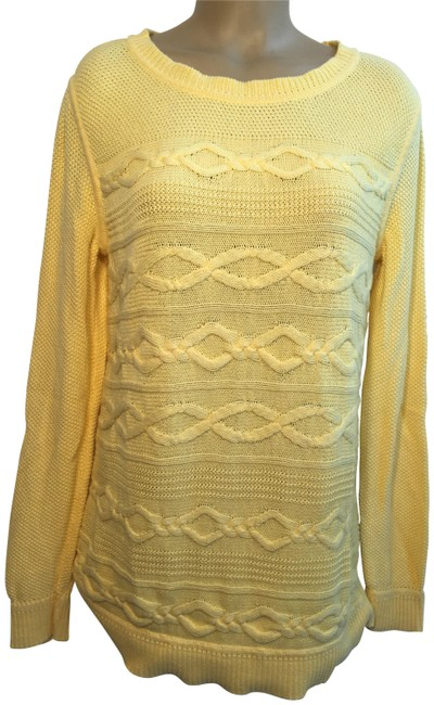 Preload https://img-static.tradesy.com/item/24259474/talbots-ribbed-chain-knit-yellow-sweater-0-3-650-650.jpg