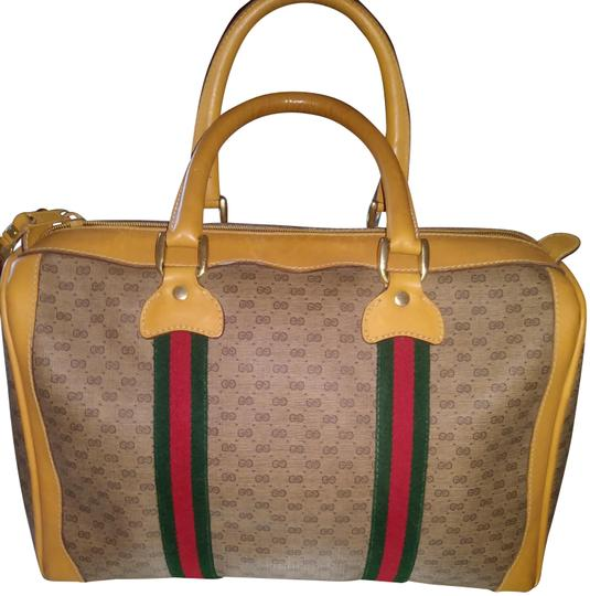 Preload https://img-static.tradesy.com/item/24259493/gucci-sherry-line-tan-with-redgreen-stripe-leather-satchel-0-3-540-540.jpg