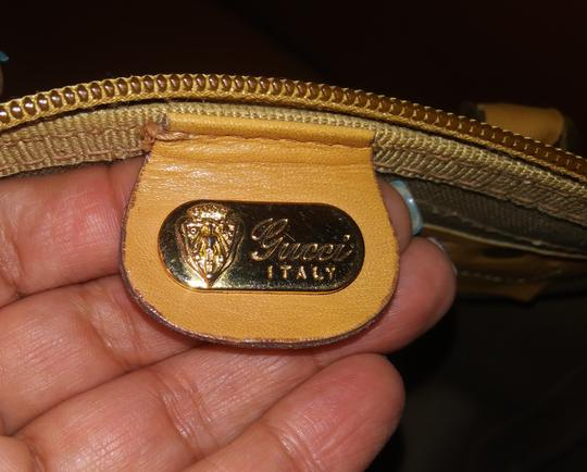 Gucci Clean Never Shedding Excellent Sherry Line Satchel in Tan with RED/Green Stripe Image 10