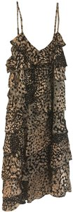 Rachel Zoe Animal Print Ruffle Dress