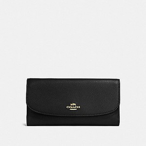 Coach COACH F16613 POLISHED PEBBLE LEATHER CHECKBOOK WALLET