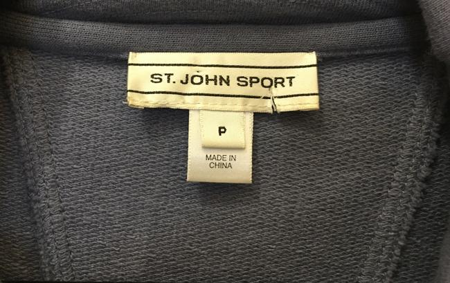 St. John Cotton Long Sleeve Zip Front Zipper And Snap Logo Blue Jacket Image 2