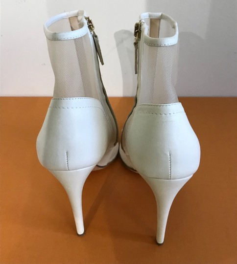 Jerome C. Rousseau Peep Toe High Heel ivory Sandals Image 1
