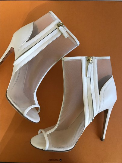 Jerome C. Rousseau Peep Toe High Heel ivory Sandals Image 5