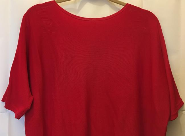 Lauren Ralph Lauren Viscose Blend Short Sleeve Pullover New With Tags Top Red Image 1