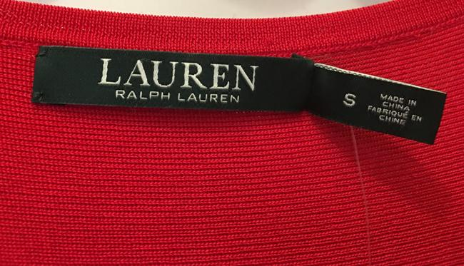 Lauren Ralph Lauren Viscose Blend Short Sleeve Pullover New With Tags Top Red Image 2