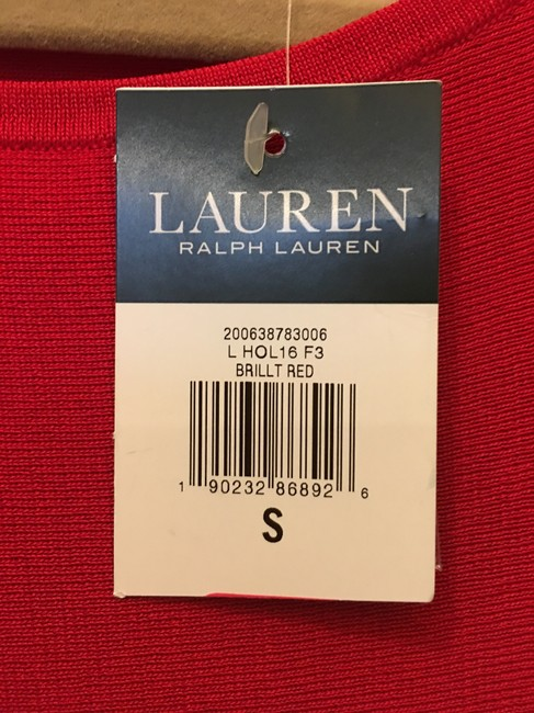 Lauren Ralph Lauren Viscose Blend Short Sleeve Pullover New With Tags Top Red Image 4