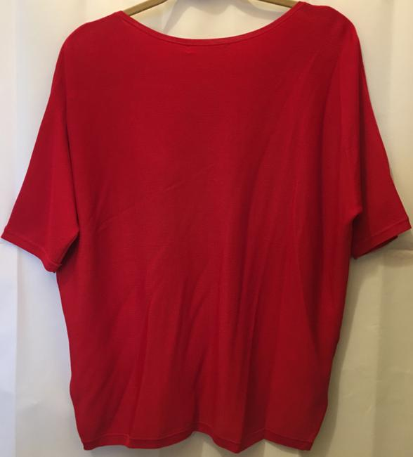 Lauren Ralph Lauren Viscose Blend Short Sleeve Pullover New With Tags Top Red Image 6