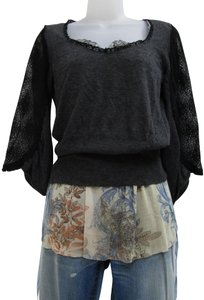 Knitted and Knotted Blouson Blouson Lace Sweater