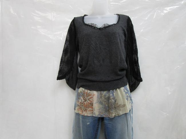 Knitted and Knotted Blouson Blouson Lace Sweater Image 1