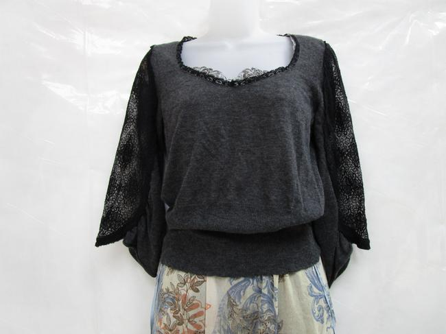 Knitted and Knotted Blouson Blouson Lace Sweater Image 2
