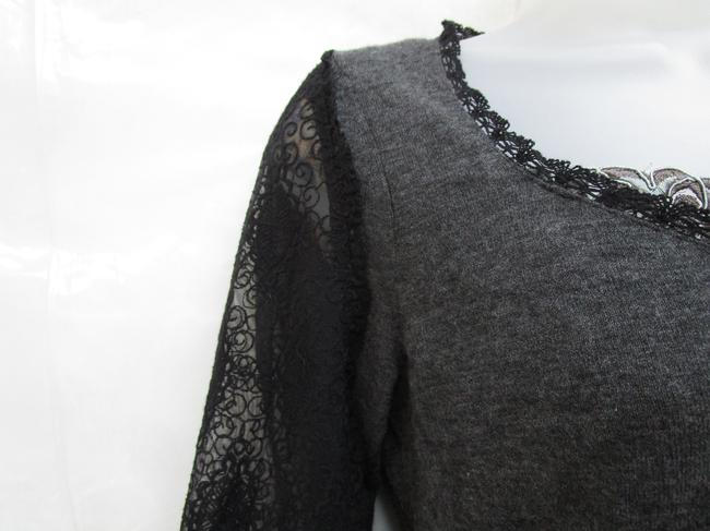 Knitted and Knotted Blouson Blouson Lace Sweater Image 3