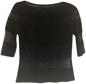 Miguelina Lace Shimmer Top Black