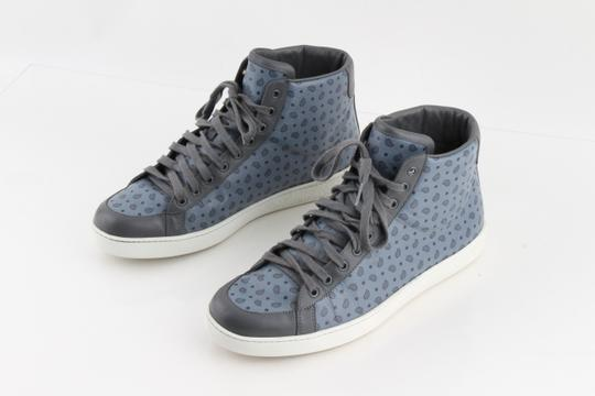 Gucci Blue Shanghai Paisley High Top Sneakers Shoes Image 1
