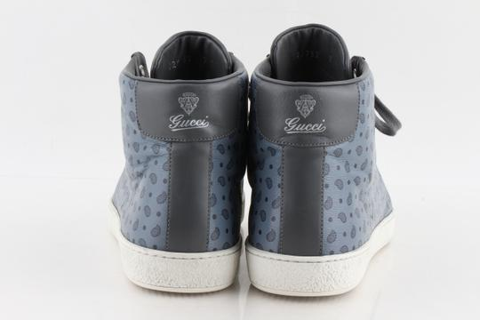 Gucci Blue Shanghai Paisley High Top Sneakers Shoes Image 3
