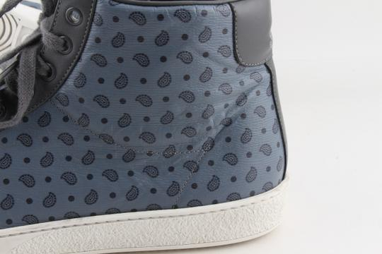 Gucci Blue Shanghai Paisley High Top Sneakers Shoes Image 5