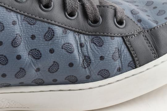 Gucci Blue Shanghai Paisley High Top Sneakers Shoes Image 6
