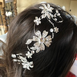 David's Bridal Silver Piece Hair Accessory