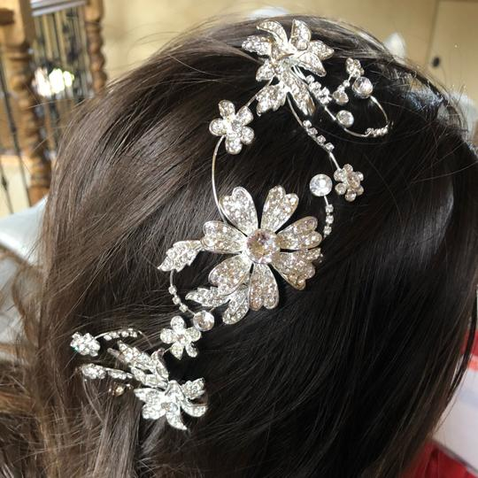 David's Bridal Silver Piece Hair Accessory Image 4
