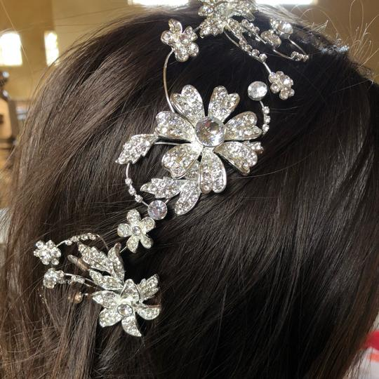 David's Bridal Silver Piece Hair Accessory Image 5
